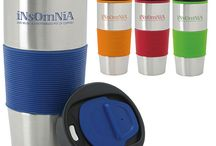 Promotional Travel Mugs / Custom printed drinkware is a great way to promote your brand! Advertise your company logo on promotional travel mugs!