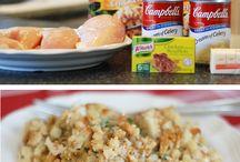 chicken and stuffing casserle