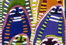 A Colourist's Dream / Aboriginal art with intense colour