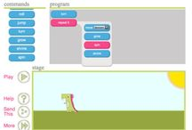 Daisy The Dinosaur / Learn the basics of computer programming with Daisy the Dinosaur! This free, fun app has an easy drag and drop interface that kids of all ages can use to animate Daisy to dance across the screen. Kids will intuitively grasp the basics of objects, sequencing, loops and events by solving this app's challenges.