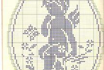 punto croce su lino