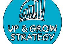 #up & #grow #strategy / Studio e sviluppo della miglior strategia al fine di aumentare la presenza e la reputazione delle aziende all'interno del proprio mercato di riferimento.