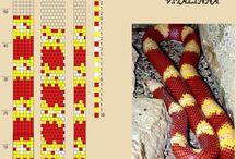 Kígyó gyöngyhorgolás minta