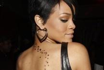 Rihanna Neck Tattoos