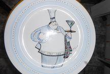 pintura em porcelana / porcelanas pintadas à mão