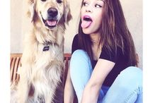with dog ❤