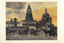 иван павлов ( Ivan Pavlov) / wood & lino engraving
