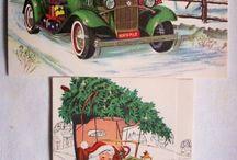 retro christmas postcards
