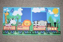 Train scrapbook page