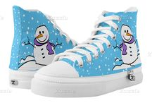 Christmas Sneakers and Shoes / Festive and merry Christmas sneakers and holiday shoes.