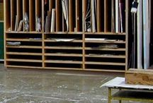 Artist's studio storage/workings