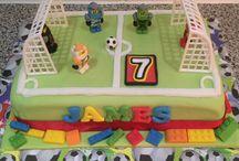 Lego football cake