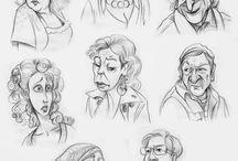 """Karykatury bohaterów serialu """"Ranczo"""" / Karykatury postaci znanych z serialu """"Ranczo"""" TVP."""