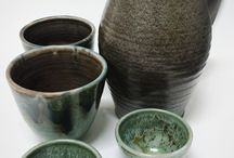 Brocche Jugs / Glasses and Jugs White earthenware, glazed to cone 05.