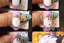 Nail art cartoons