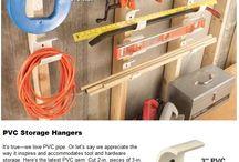 GARAGE DIY & PVC STORAGE