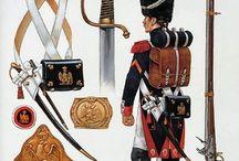 laminas de uniformes napoleonicos / laminas militares sobre uniformologia napoleonica