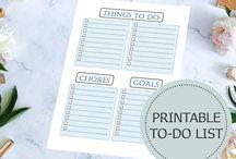 Printable Planners and To Do Lists