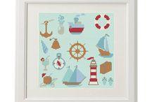Cross Stitch  Pattern Sea / crossstitch