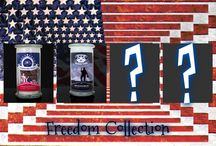 Freedom Collection / American Freedom Collection.   What is America? What are the values we cherish and the freedoms we fought for the most? Every American values their rights and freedoms. Capitalism and strength have made America great, but we Americans live for our beliefs. The American Pride candle captures the fundamentals of our heritage and the principles in which America was founded. We are proud to be an American!
