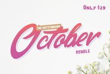 The Outstanding October Bundle / Including over 30 Fonts and 11 Graphics packs for just $29!! This amazing pack is over 96% OFF RRP, but hurry this outstanding collection is only on sale for just one month and expires on October 31st.