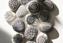 stone art / craft / stenen beschilderen of andere crafts with stones