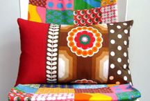 Clever simple patchwork cushions