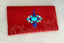 Clucht rojo #sobre de mano rojo / Diseños exclusivos