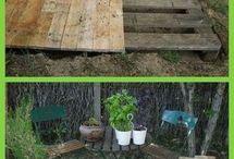 Paletten für Terrassenbau
