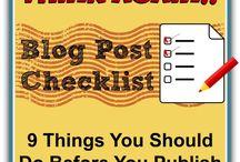 Blogging ideas & tips