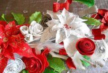 centre de table mousse flowers noel
