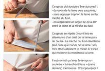 Entretien des couteaux / Les couteaux sont avant tout des outils qui méritent un soin particulier. Laver, aiguiser et affûter les couteaux... on vous dit tout.