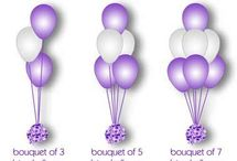 Helium table centrepieces