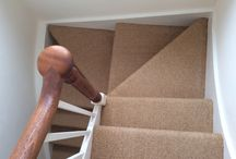 Stairs In Carpet / Client: Private Residence In North London. Brief: To supply & install carpet to stairs.