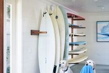 Surfboard racks