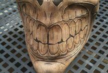 Motorcykel mask och hjälm