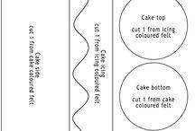 šablona dortík
