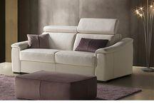 Divano letto Azzorre e Azzorre Easy materasso alto cm. 18 / Divani letto di linea moderna disponibili in tessuto e in pelle con materasso alto cm. 18