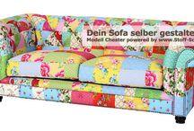 Möbel & Stoffideen / Immer wieder spannend ist das Bedrucken von Stoffen für Polsterprojekte bei www.Stoff-Schmie.de. Hier ein paar Inspirationen & denkbare Umsetzungen...
