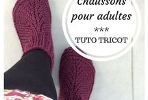 TUTO CHAUSSONS TRICOT