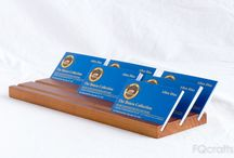 Business Card Holders / Handmade wooden business card holders and display stands to promote a individuals or businesses