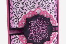 Filigree Leaves Background Stamp