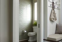 Downstairs bathroom & Hallway