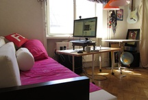 The studio apartment / Our tiny 24 square meter studio apartment with living and work-space for two need some creative and beautiful solutions... Downsizing!