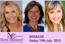 """NetConnect Brisbane July 2013 / Topic """"Awareness, Law of Attraction, Attitude""""  Enjoy dynamic speakers Jules O'Neill, Sandy Forster, Anna Schaumkel who will assist you to not only receive """"Aha moments"""" but will show you how to actually transform through these breakthroughs to transform into the real YOU!. The NetConnect seminars offer an amazing opportunity to connect with other women. tickets online only EOFYS $119 http://www.enlightenedgoddesses.com/events/events-details/?event_id=218 / by Natalie McIvor"""