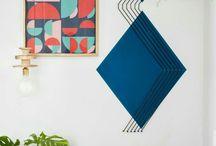 50 ideias para entrar na onda da pintura geométrica / A pintura de parede geométrica anda fazendo a cabeça de muita gente! Inclusive a minha! É uma das maneira mais baratas de dar um up grade na decoração, com muita personalidade e estilo! Vem saber mais n blog!