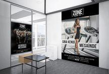 ZONE / Zone Training-Spa Afiş Tasarımlarımız