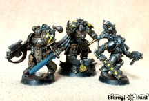 "Iron Warriors / Collection of miniatures from the Iron Warriors Legion. Both the 30k IV Legion or the Chaos Space Marine versions, either way ""Iron Within, Iron Without!"""