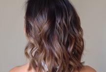sombre hair brunette
