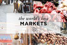 Authentic markets / local and original markets, street markets, flea markets around the world